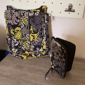 Vera Bradley Baroque Crossbody Large Hipster and Wallet Combo